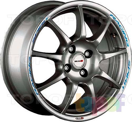 Колесные диски Mak Racing Spirit. Цвет серебряный