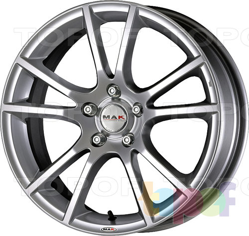 Колесные диски Mak Veleno. Цвет Hyper Silver