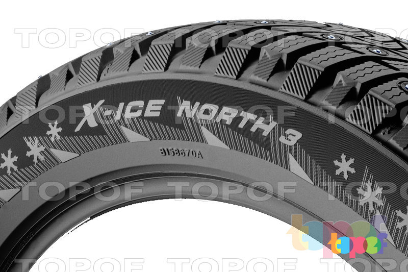 Шины Michelin X-Ice North 3. Плечевая часть шины