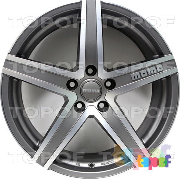 Колесные диски Momo HyperStar. Цвет матовый серый с полированной лицевой стороной