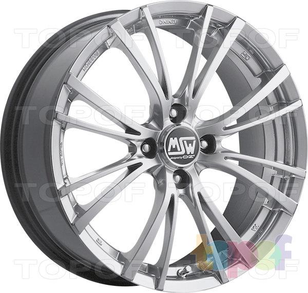 Колесные диски MSW 20. 5 посадочных отверстий. Цвет Silver Full Polished