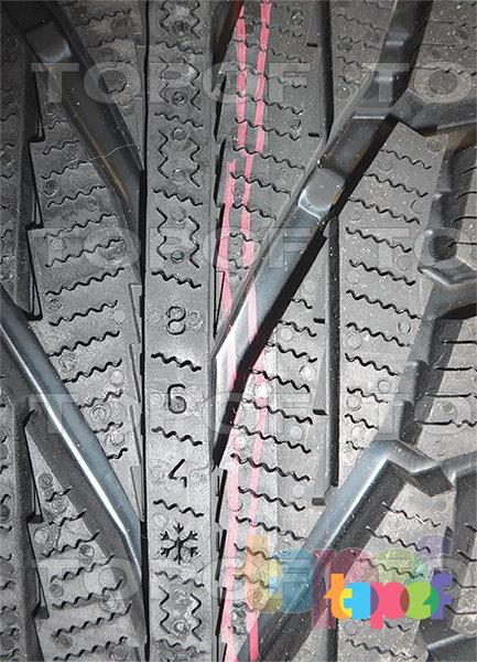 Шины Nokian Hakkapeliitta R2 (SUV). Индикатор степени износа протектора