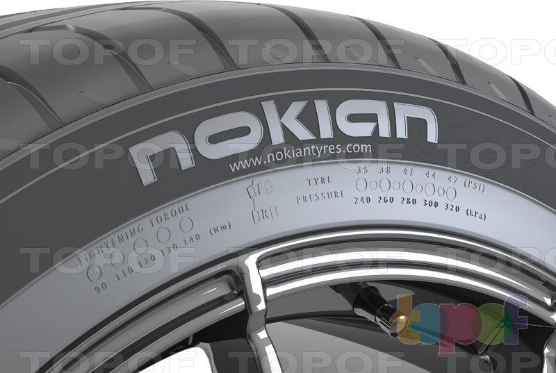 Шины Nokian zLine. Боковая стенка