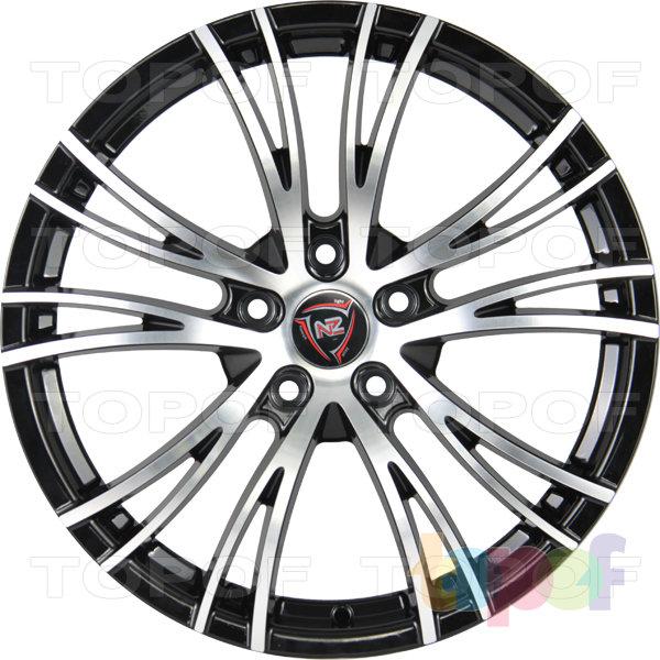 Колесные диски NZ F53. Цвет колесного диска - BKF (Черный полностью полированный)