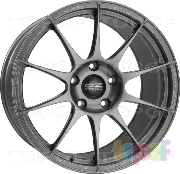 Колесные диски O.Z Racing Superforgiata 5 Fori. Цвет Grigio Corsa Milled Lettering