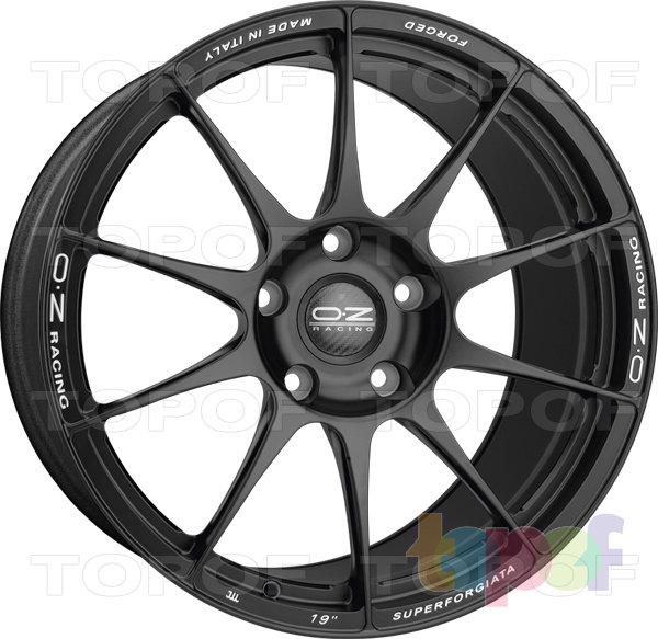 Колесные диски O.Z Racing Superforgiata 5 Fori. Цвет Matt Black Milled Lettering