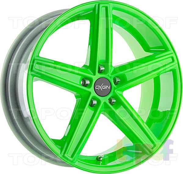 Колесные диски Oxigin 18 Concave. Цвет - неоновый зеленый