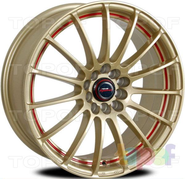 Колесные диски PDW Alpina (606). Золотисные с красной каемкой
