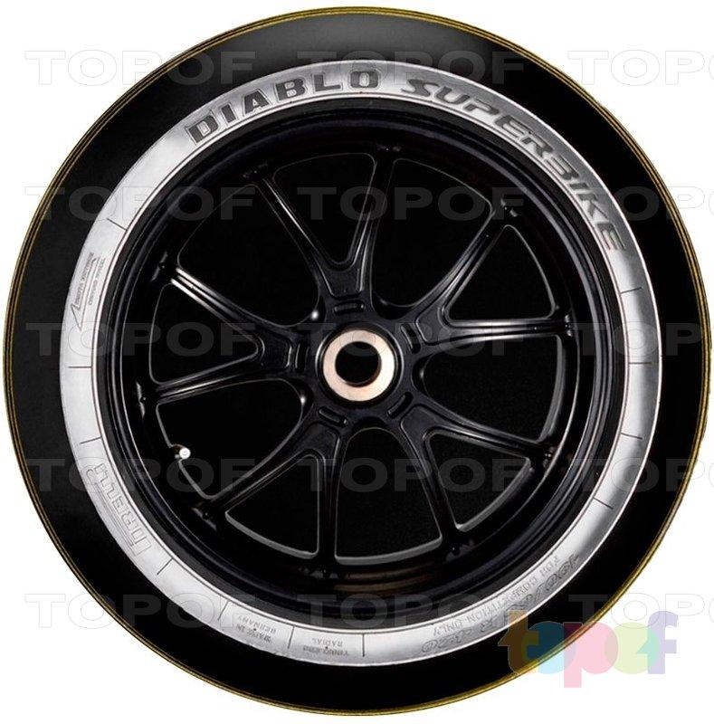 Шины Pirelli Diablo Superbike. Вид сбоку