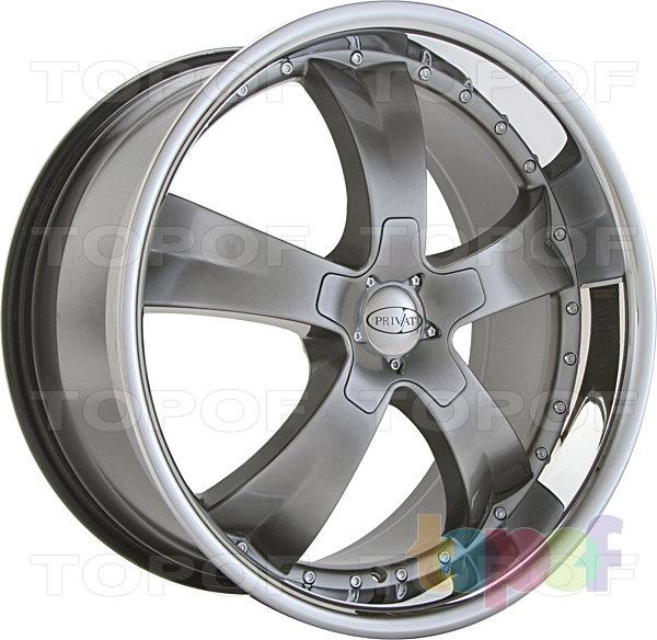 Колесные диски Privat Kontakt. Цвет серый с полированной полкой