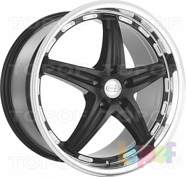 Колесные диски Privat Profil. Цвет черный с полированной полкой