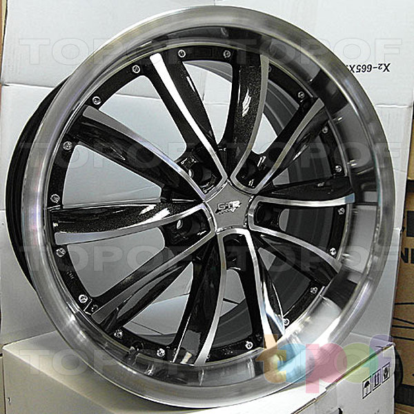 Колесные диски R1 Sport 981. Цвет - серый с полированной лицевой стороной
