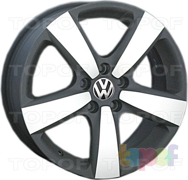 Колесные диски Replay (Replica LS) VV112 (VW112). Matt Black (матовый черный) полированный