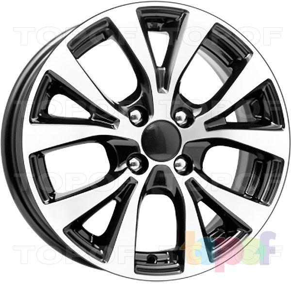 Колесные диски Replica КиК Hyundai Solaris (КС685). Цвет - алмаз черный