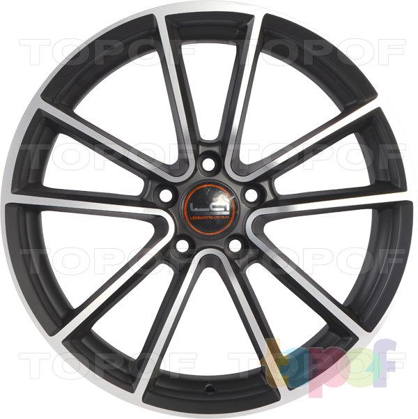 Колесные диски Replica LegeArtis A41. Цвет черный матовый с полированными закраинами