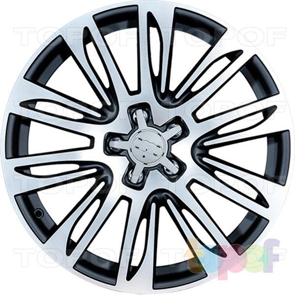 Колесные диски Replica LegeArtis A49. Цвет MBF (заглушка от авто)