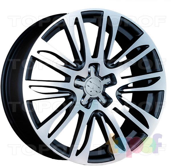 Колесные диски Replica LegeArtis A49. Цвет черный матовый с полированной лицевой частью (заглушка от авто)