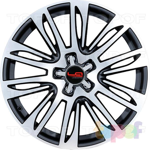 Колесные диски Replica LegeArtis A49. Цвет черный матовый с полированной лицевой частью (заглушка производителя)