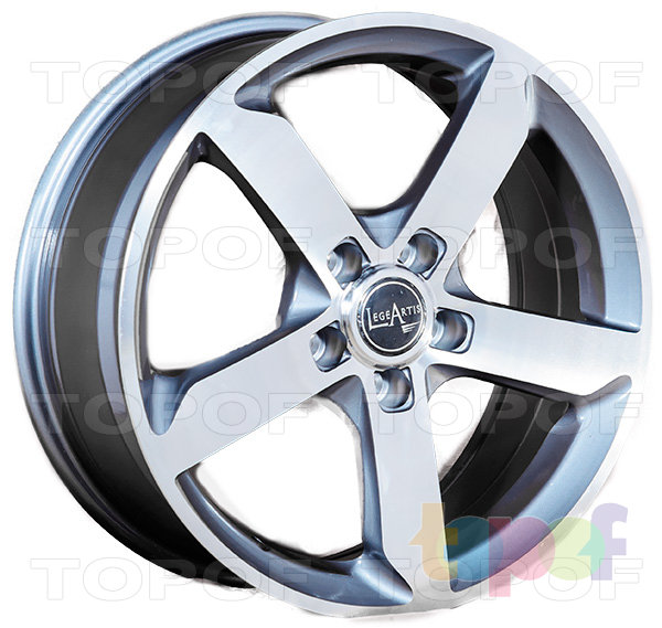 Колесные диски Replica LegeArtis A52. Цвет серый матовый полированный