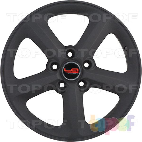 Колесные диски Replica LegeArtis A55. Цвет черный матовый (заглушка производителя)