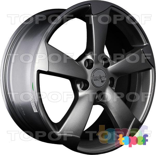 Колесные диски Replica LegeArtis A56. Цвет серый матовый с полированными краями лучей