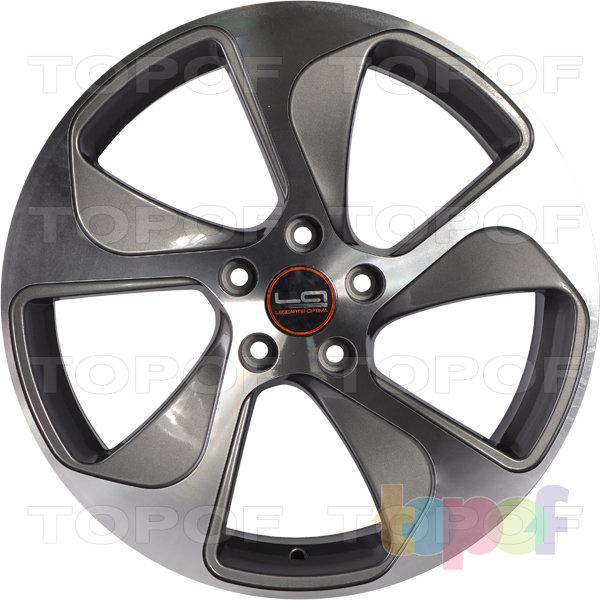 Колесные диски Replica LegeArtis A76. Цвет серый матовый с полированными краями лучей