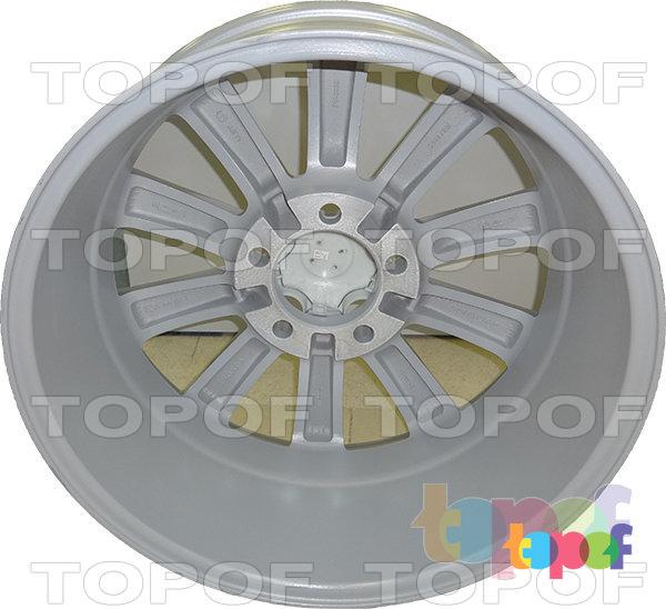 Колесные диски Replica LegeArtis LX27. Цвет серебряный