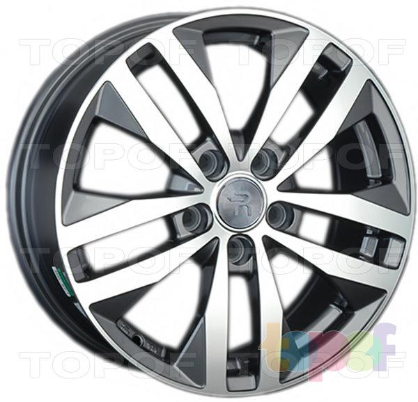 Колесные диски Replica LegeArtis VW144. Цвет колесного диска - GMF (Темно-серебристый с полированной лицевой стороной)