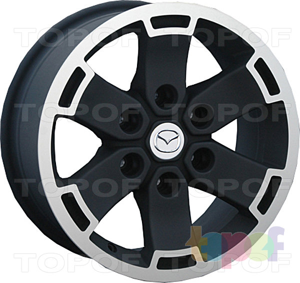 Колесные диски Replay (Replica LS) MZ31. Цвет матовый черный полированный