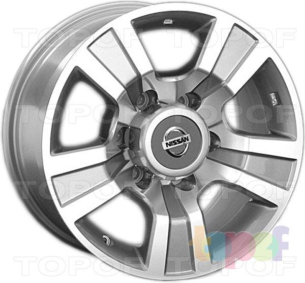 Колесные диски Replay (Replica LS) NS86. Цвет темно-серый полированный