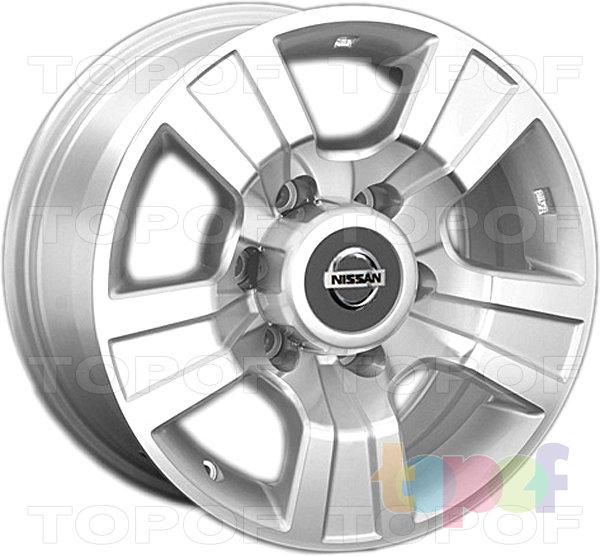 Колесные диски Replay (Replica LS) NS86. Цвет серебряный полированный