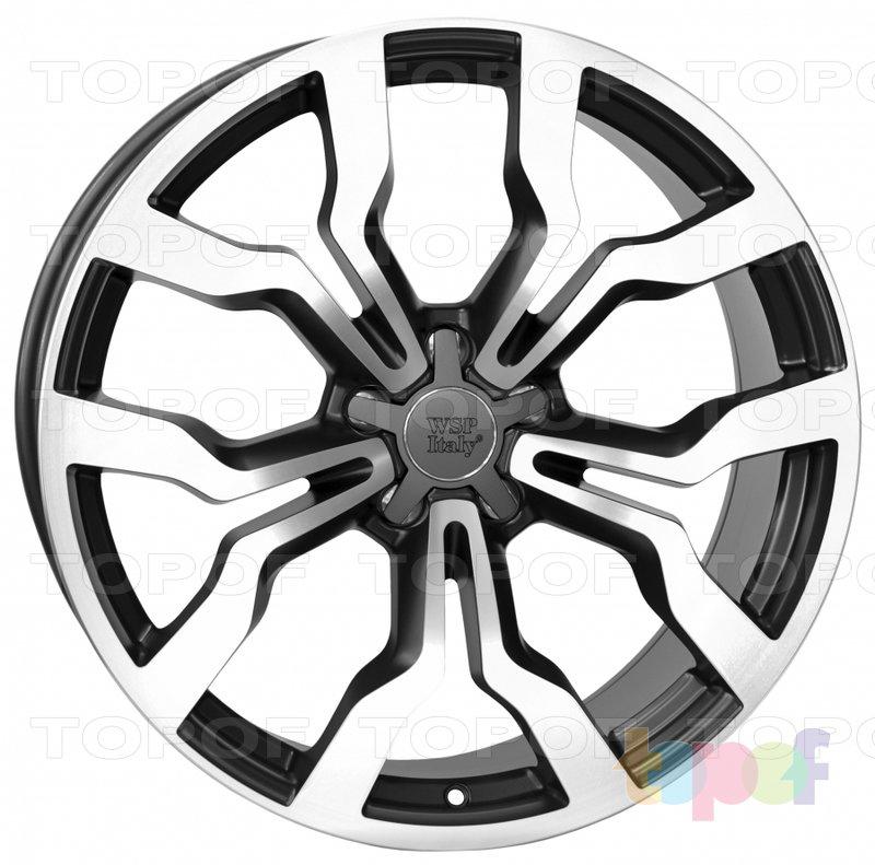 Колесные диски Replica WSP Audi W565 Medea. Цвет колесного диска - Dull Black Polished (Черный матовый полированный)
