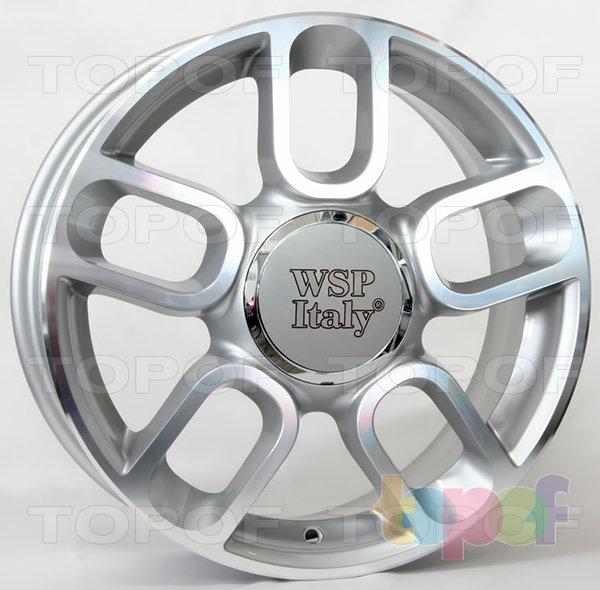 Колесные диски Replica WSP Fiat W156 500 Diamante. Цвет колесного диска - Silver Polished (Серебряный с полированной лицевой поверхностью)