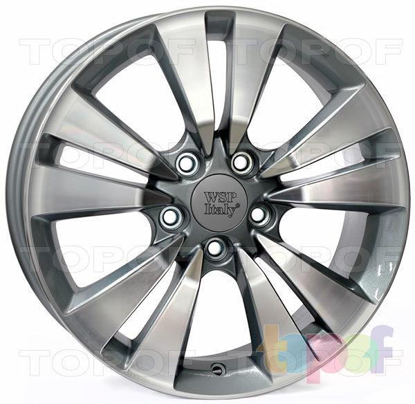 Колесные диски Replica WSP Honda W2409 Bolzano. Цвет колесного диска - Anthracite polished (Антрацит полированный)