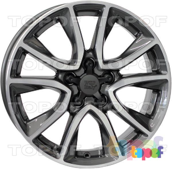 Колесные диски Replica WSP Honda W2411 Gerda CR-Z. Цвет - антрацитовый полированный