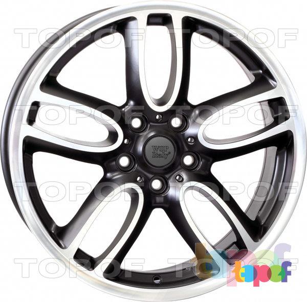 Колесные диски Replica WSP Mini W1654 Amstel / Countryman. Цвет колесного диска - Dull Black Polished (Черный матовый полированный)