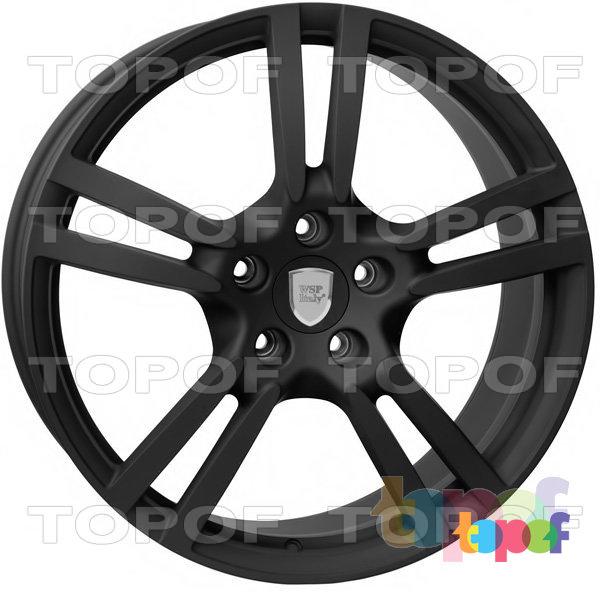 Колесные диски Replica WSP Porsche W1054 Saturn. Цвет колесного диска - Dull black (Черный матовый)