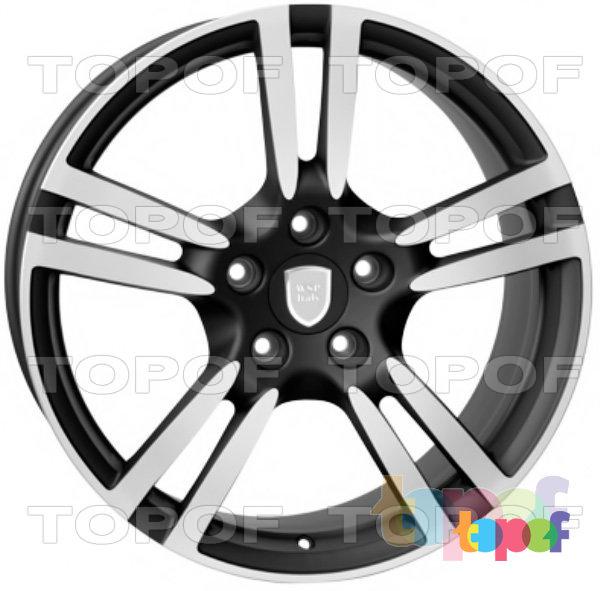 Колесные диски Replica WSP Porsche W1054 Saturn. Цвет колесного диска - Dull Black Polished (Черный матовый полированный)