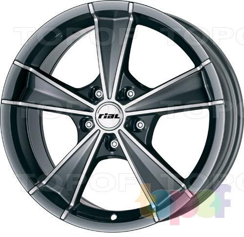 Колесные диски Rial Roma. Цвет - graphite. Обработка - front polished