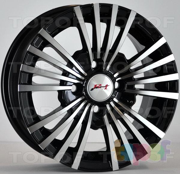 Колесные диски RS 104. Новый дизайн. Цвет - черный матовый с полированной лицевой частью