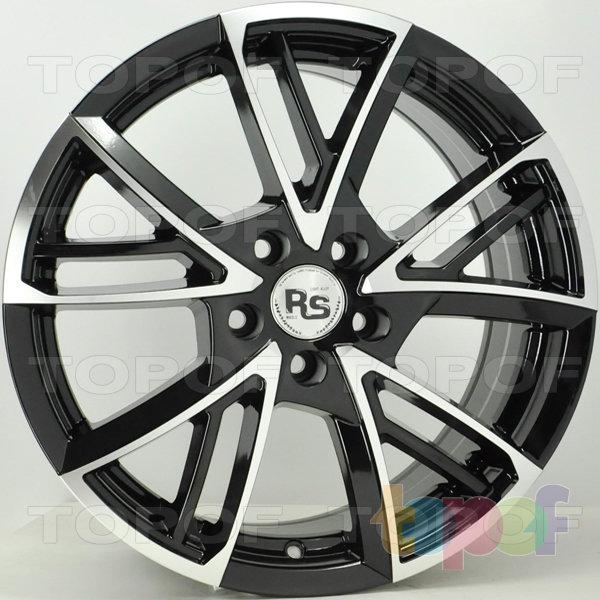 Колесные диски RS 111. Цвет матовый черный полированный