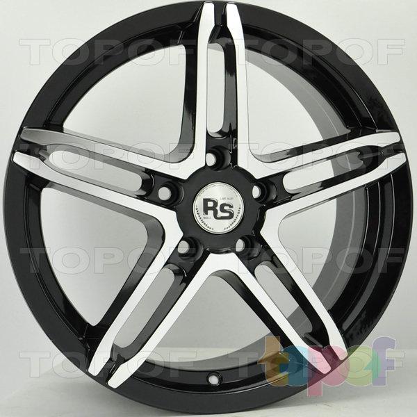 Колесные диски RS 112. Цвет матовый черный полированный