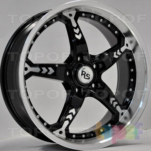 Колесные диски RS 256. Цвет: матовый черный