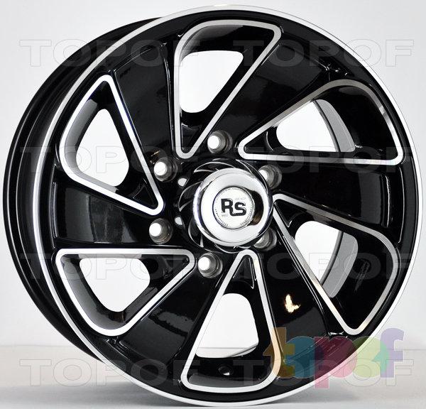 Колесные диски RS 269. Матовый черный с полированными гранями лучей