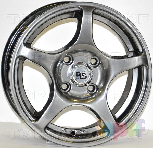 Колесные диски RS 280. Матовый черный с полированной лицевой стороной