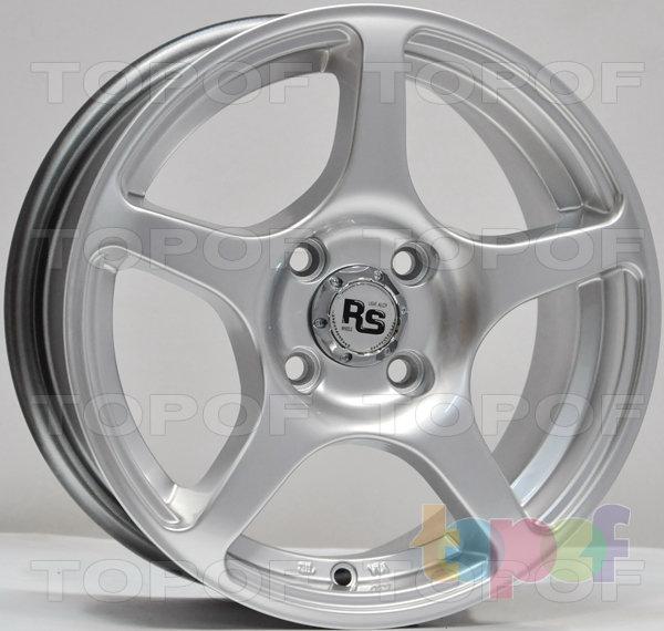 Колесные диски RS 280. Матовый черный с полированным ободом