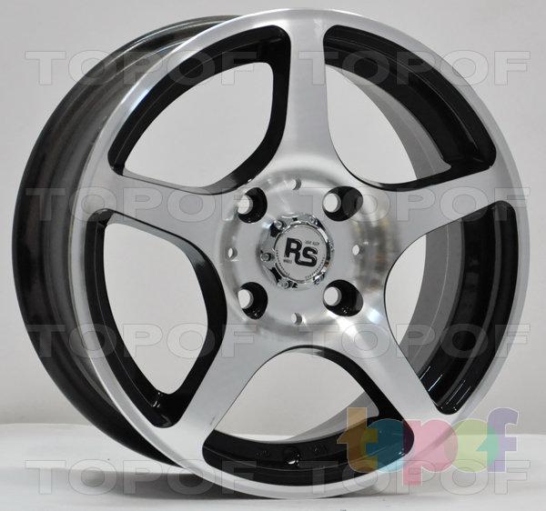 Колесные диски RS 280. Матовый серый с полированным ободом