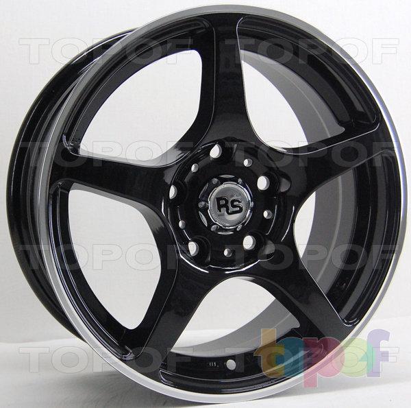 Колесные диски RS 280. Матовый белый с полированным ободом