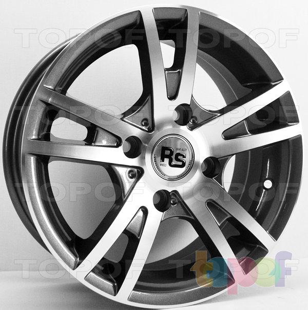 Колесные диски RS 281. Цвет - оружейный металл серый