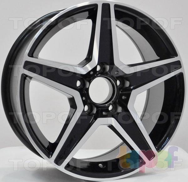 Колесные диски RS 314 rMB. Цвет темно серый полированный